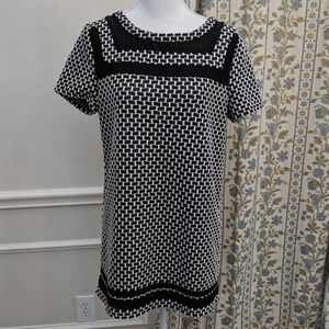 Anthropologie Black Mini Babydoll Dress Tunic